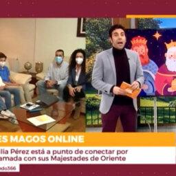 Conexión en directo de familia Pérez. Fuente: Está Pasando (Telemadrid)